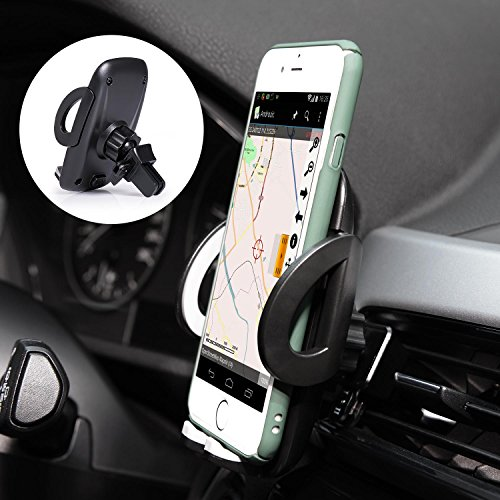 Ameauty Phone Mount Holder, 360 Degree Adjustable Air Vent Car Mount with Quick Release Button, Compatible with iPhone 8 8 Plus 7 7 Plus 6s 6 Plus 6 5s and other Smartphones and GPS devices (Iphone Car Mount 6 Vent)