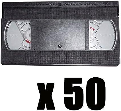 50 Cámaras VHS vacíos (sin banda): Amazon.es: Oficina y papelería