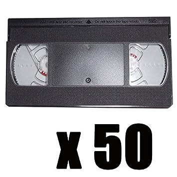50 Cámaras VHS vacíos (sin banda): Amazon.es: Oficina y ...