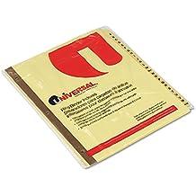 Universal 20812 Preprinted Plastic-Coated Tab Dividers, 25 Alphabet Tabs, Letter, Buff, 25/Set