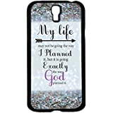 "Glitter Background with Quote "" My Life May Not Be Going the Way I Planned"" Hard Snap on Phone Case (Galaxy s4 IV)"