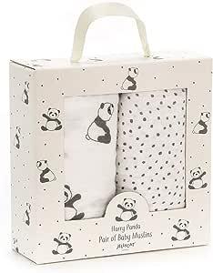Jellycat - Set de Muselinas Harry Panda para Bebe de Algodón 70 x 70 cm: Amazon.es: Bebé