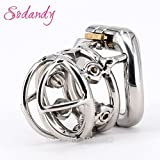 MISSLOVER SODANDY Chastity Devices Male Chastity Spikes Stainless Steel Cock Cage Penis Locking For Men Bondage Penis Rings With 6 Screws 1pcs