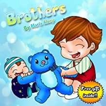 """Kids Books: """"Brothers"""". Teach your kids the values of sharing and friendship (Early / Beginner Readers Children's Books Collection Book 1)"""