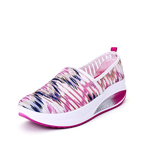 Shake transpirable mujer Summer altura D ocasionales Aumento On de Shaking SHINIK de Lazy Zapatos Shoes Zapatos Athletic Slip Shoes Shoes Fitness Travel Ladies punto de Mesh Shoes qOCx0