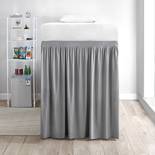 DormCo Extended Bed Skirt Twin XL (3 Panel Set) - Alloy