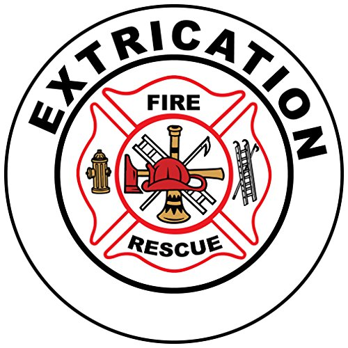Extrication Fire Rescue Hard Hat Labels Plain & Reflective Vinyl Reflective Vinyl