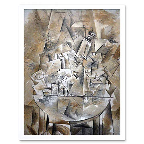 Wee Blue Coo Painting Braque Still Life The Pedestal Table Art Print Framed Poster Wall Decor 12x16 inch -