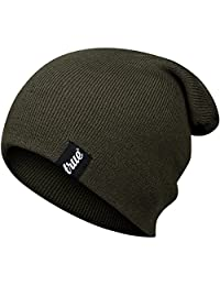 TRUE VISION Mens Beanie Hat - One Size Soft Knitted Acrylic Unisex Slouch Toque