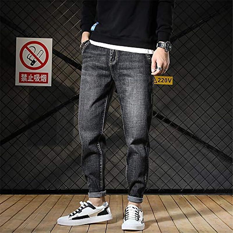 WYX męskie spodnie jeansowe, rozmiar pludry, spodnie ze stretchu, modne, męskie, luźne, jeansy, dżinsy, dżinsy, 31: Garten