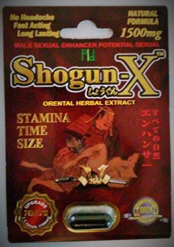 Shogun -X Male Sexual Enhancer Pill Libido Japanese Natural Formula (12) by Shogun