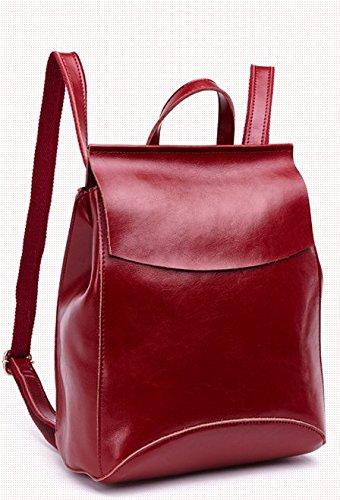 eine neue, einfache leder leder - tasche,rotwein