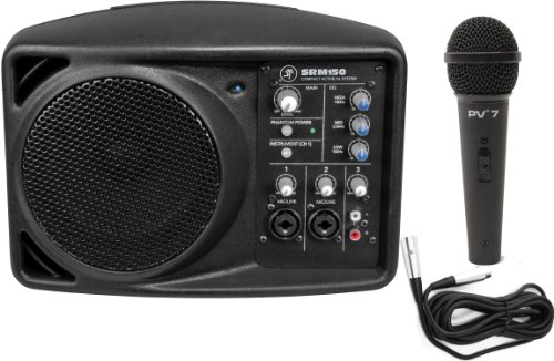Mackie SRM150 Compact Active PA System w/ Dynamic Microphone and Cable by Mackie