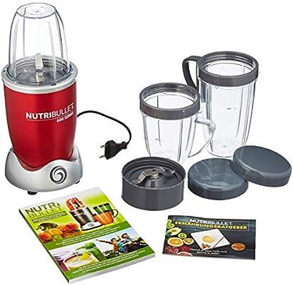 NutriBullet NBR-1240R Máquina para smoothies, rojo: Amazon.es: Hogar