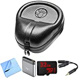 Slappa (SL-HP-07) HardBody PRO Full Sized Headphone Case - Black Includes Bonus M-Audio Bass Portable Headphone Amplifier, and More