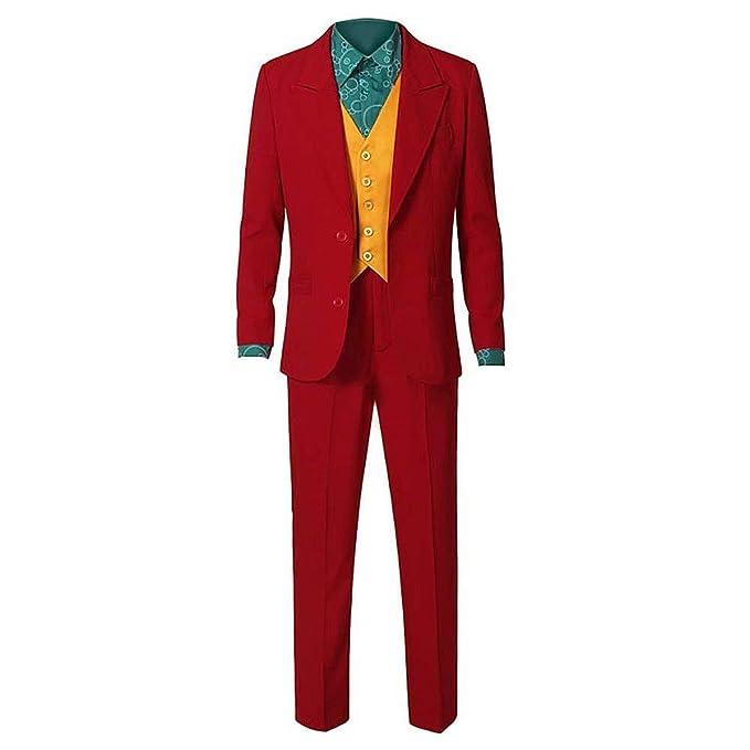 Traje de Joker 2019 Halloween Cosplay Party Outfit Arthur Fleck Chaqueta Pantalones Chaleco Camisa Conjunto Completo Disfraz de Payaso de Caballero ...