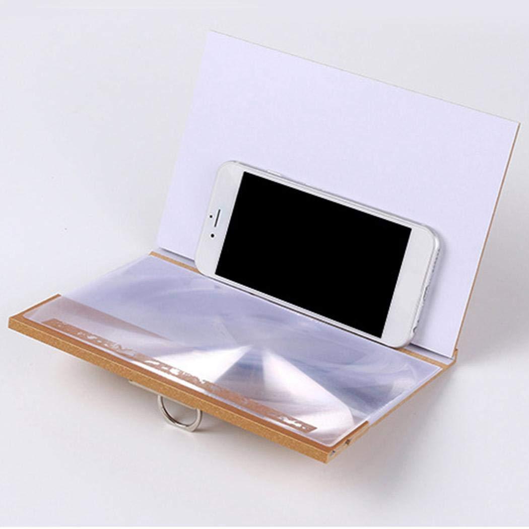Junio1 Tel/éfono m/óvil Pantalla 3D Amplificador de Video Soporte Lupa Soporte Plegable de 8 Pulgadas Soportes