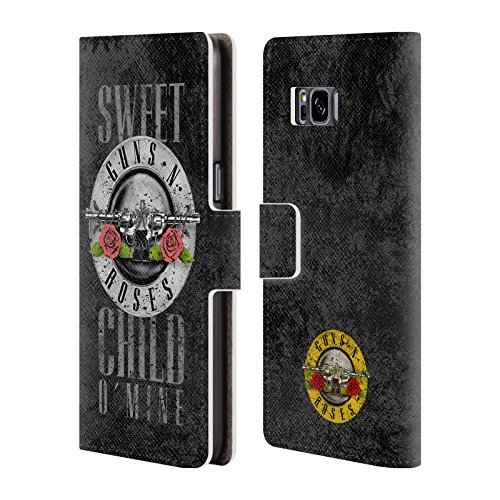 - Official Guns N' Roses Sweet Child O' Mine Vintage Leather Book Wallet Case Cover for Samsung Galaxy S8+ / S8 Plus