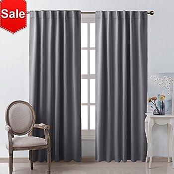 Amazon Com Nicetown Blackout Curtain Panels Window