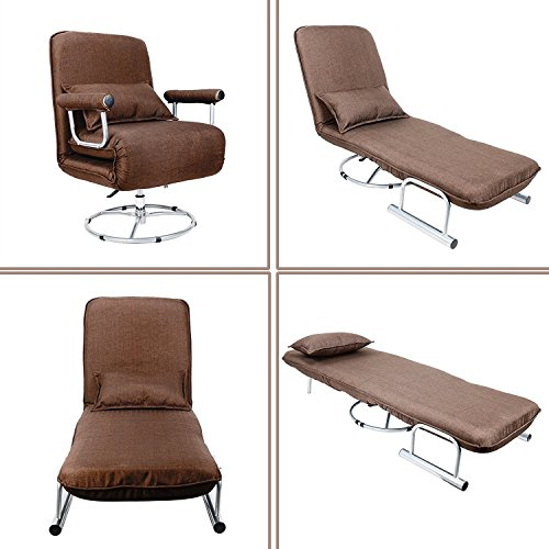 Co Z 5 Position Folding Sleeper Chair Convertible Sofa Bed