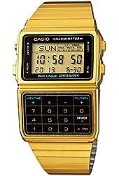 Casio #DBC611G-1D Men's Gold Tone 25 Memory Calculator Databank Watch