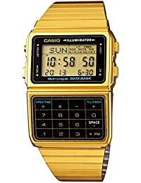 #DBC611G-1D Men's Gold Tone 25 Memory Calculator Databank...
