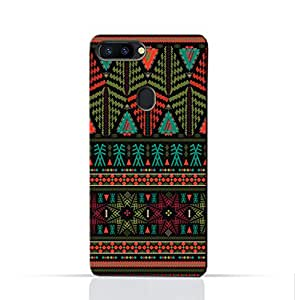 AMC Design Oppo R11S Plus Mobile Protective Case with Ethnic Grunge Neon Pattern - Multi Color