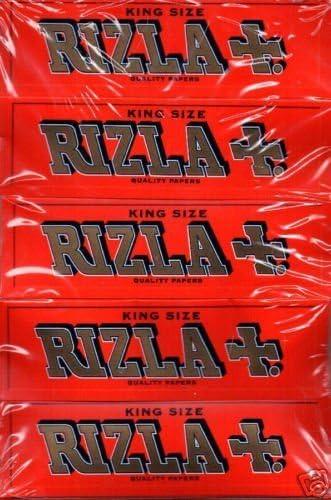 Rizla Sampler Pack 5 Paquetes Rojo King Size – Papel de Liar: Amazon.es: Hogar