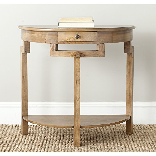 Safavieh American Homes Collection Liana Oak Console Table (Demilune Accent Table)