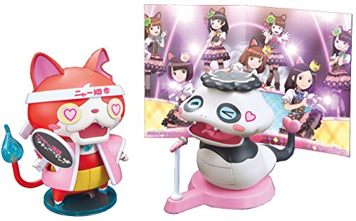 (BANDAI) Yo-Kai Watch Nya- KB Ouen Stage Set Tsuchinoko Panda & Jibanyan (Plastic Model kit)
