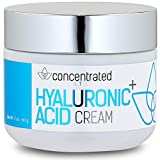 Concentrated Naturals Hyaluronic Acid Cream for Face | w/Jojoba Oil, Vitamin E & Vitamin C | May Help Hydrate & Improve Tone for More Youthful Skin | Net WT. 2 oz / 60 g