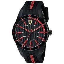 Ferrari Men's 0830245 REDREV Analog Display Japanese Quartz Black Watch