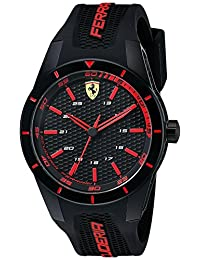 Ferrari Men's 0830245 REDREV Analog Display Japanese Quartz Black Watch