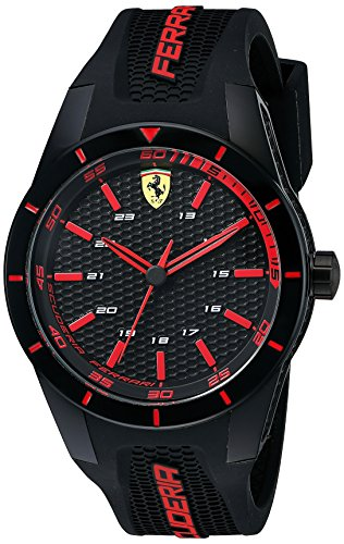 Ferrari Men's 0830245 REDREV Analog Display Quartz Black - Ferrari Shop