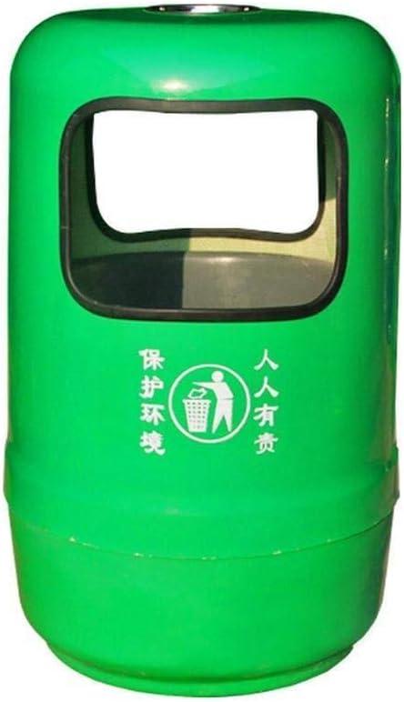 ゴミ箱 スタンド 屋外のゴミ箱は、リサイクルビンFRP大きな丸いゴミ箱を無駄にすることができますコミュニティパークロードサイド-55 * 82CM 灰皿