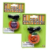 Halloween Pumpkin Blinking Safety Necklace