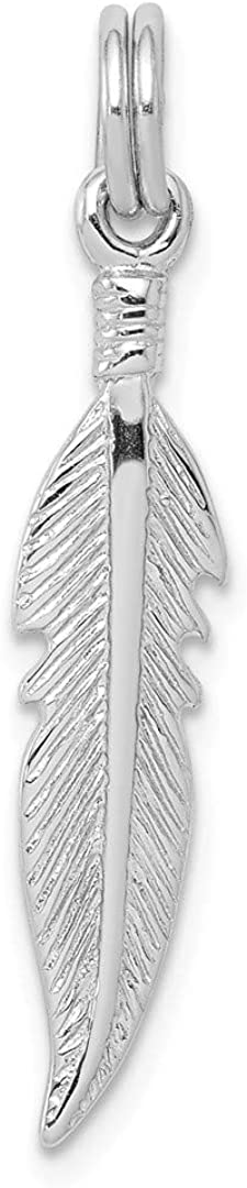 Feather Charms Necklace Pendants Sterling Silver Feather Pendants Bracelet Charms