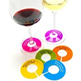 Glass Where - Unique Wine Glass Identifiers and Name Tags - 6 pack - Slogans