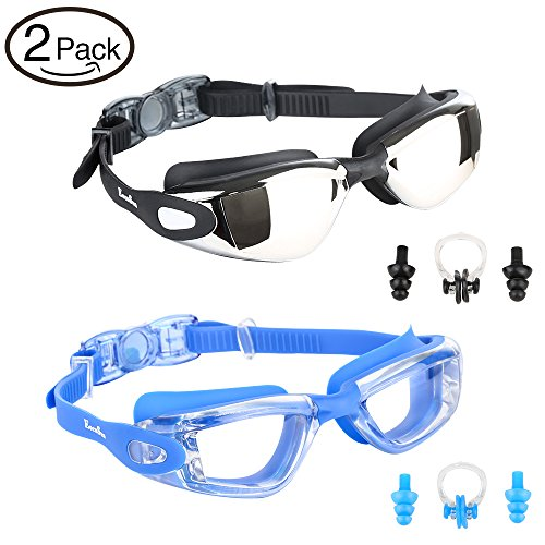 EocuSun Swimming Goggles, Pack of 2, Swim Goggl...