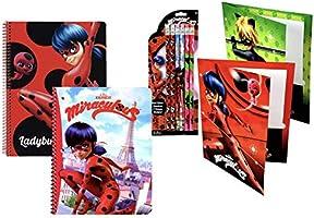Amazon.com: Miraculous LadyBug - Mochila con 2 cuadernos, 2 ...