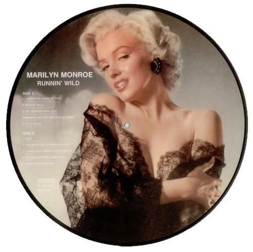 (Marilyn Monroe - Runnin' Wild - Picture Disc - 1985 - Denmark Import LP )
