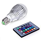 Popcandy 9W E27 Color LED RGB Magic Light Bulb With Wireless Remote