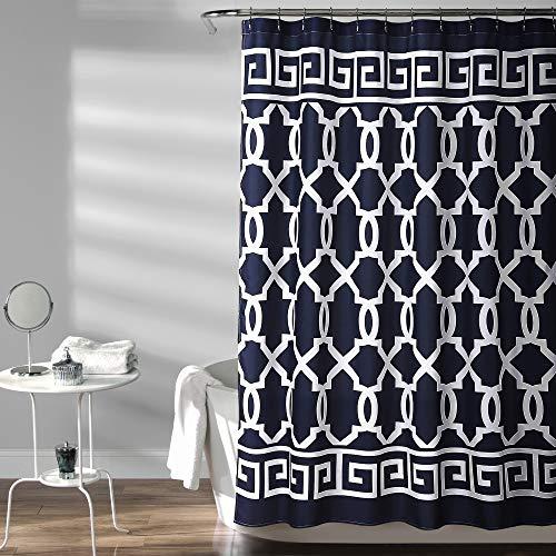 Lush Decor Maze Border Shower Curtain 72X72, 72