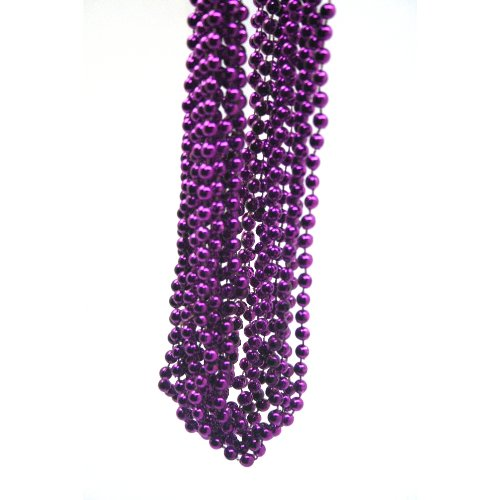 Rhode Island Novelty Purple Bead Necklace (1 -