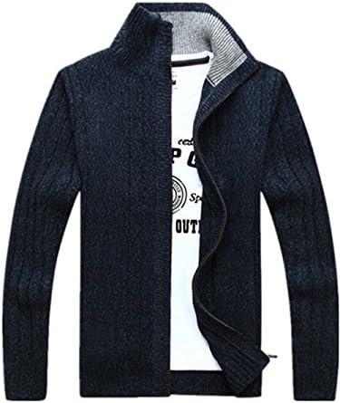 カーディガン メンズ ニットジャケット スタンドカラー ジャケット アウター ビジネス カジュアル おしゃれ 無地 シンプル 通勤 ジップアップ セーター