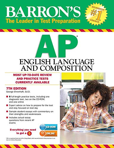 Barron's AP English Language and Composition with CD-ROM, 7th Edition
