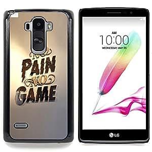 Queen Pattern - FOR LG G Stylo / LG LS770 / LG G4 Stylus - No Pain No Game Gold Pc Gaming - Cubierta del caso de impacto con el patr???¡¯???€????€???&