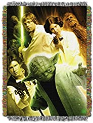 "Disney Star Wars, ""Small Rebel Force"" Woven Tapestry Throw Blanket, 48"" x 6"