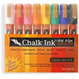 Chalk Ink 6mm Classic Wet Wipe Markers, 8-Pack