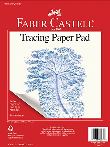 (Faber-Castell Tracing Paper Pad - 40 Sheets (9 x 12)